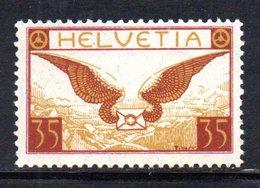 436/1500 - SVIZZERA 1929 , Posta Aerea  Unificato N. 13a  ***  MNH  Carta Goffrata - Nuevos