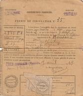 Permis De Circulation Moto Monet Goyon - L'isle-Adam Vienne 86 - 1927- Scan R/V - Documents Historiques