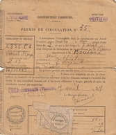 Permis De Circulation Moto Monet Goyon - L'isle-Adam Vienne 86 - 1927- Scan R/V - Historical Documents