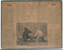 CALENDRIER De 1894 - Format 26 X 21 Cm - Big : ...-1900