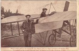 Aviation - Aviateur Henri Cobioni - La Chaux-de-Fonds - 1912 - Aviateurs