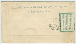 Tchécoslovaquie FDC Voyagé 1950 Avec Vignette Esperanto Czechoslovakia Postally Used FDC W/ Esperanto Cinderella - Esperanto