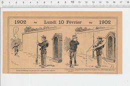 2 Scans Humour Cerf-Volant Jouet Kite Guérite Soldat Caserne Thème Jenny L'ouvrière PF223A - Old Paper
