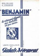 """Buvard """" Benjamin """" - Blotters"""