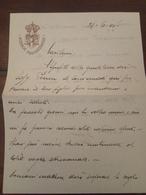 Antico Piego Lettera Scuola Bombardieri 1917   Militare - Historical Documents