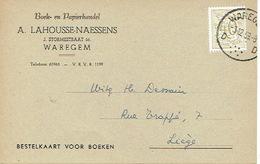 PK Publicitaire WAREGEM 1959 - A. LAHOUSSE-NAESSENS. - Boek- En Papierhandel - Waregem