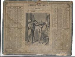 CALENDRIER De 1876 - Format 26 X 21 Cm - Groot Formaat: ...-1900
