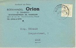 PK Publicitaire WAREGEM 1959 - Boekhandel ORION - G. DEMEDTS - Waregem