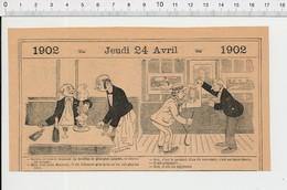 2 Scans Humour Bouillon Gras Fumeur De Pipe PF223A - Old Paper