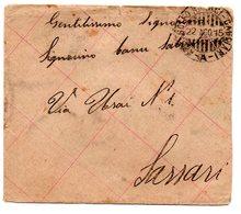 22 AGO 15  Annullo AMB. GOLFO ARANCI - CAGLIARI  A - 1900-44 Vittorio Emanuele III