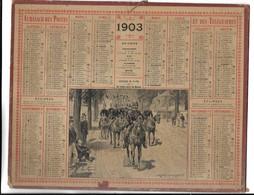 CALENDRIER De 1903 - Format 26 X 21 Cm - Calendars