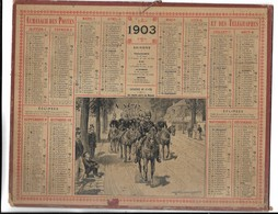 CALENDRIER De 1903 - Format 26 X 21 Cm - Kalender