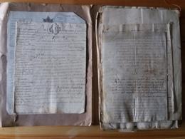 Lot De Vieux Documents Manuscrit - 18eme Et 19eme Siècle - Old Paper