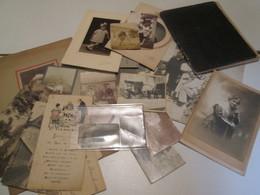 Lot En Vrac De Photographies Anciennes, Cahier D'écolier, Menu Ect Voir Cliché - Collections