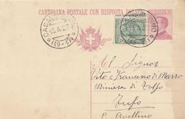 Casalbordino. 1923. Annullo Frazionario (19 - 17) Su Cartolina Postale, Completa Di Testo. - Poststempel