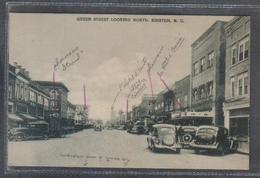 Carte Postale Etats-Unis  Kinston  Queen Street Looking North  Voitures Anciennes - Etats-Unis
