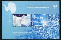 """Bloc-Feuillet** D'Australie De 2009 Avec 2 Timbres Gommés """"Protection Des Zones Polaires Et Des Glaciers"""" - Australisches Antarktis-Territorium (AAT)"""