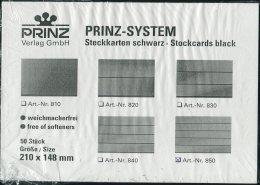 Prinz 850 Black 5 Strip X 50 Stockcards NEW - Approval (stock) Cards
