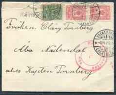 1916 Finland Censor Cover. Kainby Sockenbasa Abo Adendal - 1856-1917 Russian Government