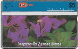 Malaysia (Kadfon) - Bougainvilla Flower - L&G - 107E - 1991, 5RM, 100.000ex, Used - Malaysia