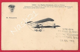 """CPA 1915  - Carte Postale Aviation """"  Le Biplan ' Sommer ', Piloté Par Marcel PAILLETTE """" - ....-1914: Precursors"""