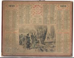 CALENDRIER De 1899 - Format 26 X 21 Cm - Groot Formaat: ...-1900