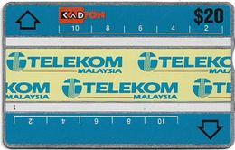 Malaysia (Kadfon) - Telekom Logo 3 - L&G - 303H - 1993, 20RM, 140.000ex, Used - Malaysia