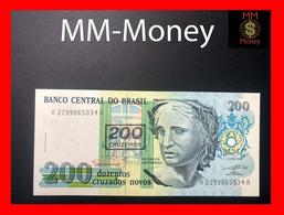 BRAZIL 200 Cruzeiros  \ 200 Cruzados Novos  1990  P. 225  UNC - Brasilien