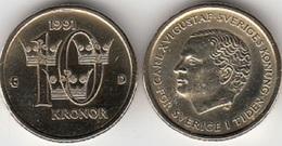 SVEZIA 10 Kronor 1992 KM#877 - Used - Svezia