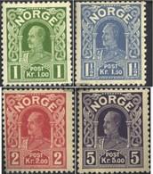 Norwegen 89-92 (completa Edizione) MNH 1910 Re Haakon - Norwegen