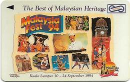 Malaysia (Uniphonekad) - Malaysia Fest 1994, 4USBA, 1995, Used - Malaysia