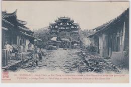 Chine - Cpa -Yunnan - Mong-Tzeu - Pai-Fang Ou Arc De Triomphe Chinois à  Sin Gnan Soo - China