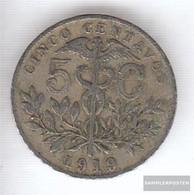 Bolivia 173 1919 Very Fine Copper-Nickel 1919 5 Centavos Crest - Bolivia