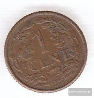 Dutch Antilles Km-number. : 1 1954 Extremely Fine Bronze 1954 1 Cent Leo - [ 4] Colonies