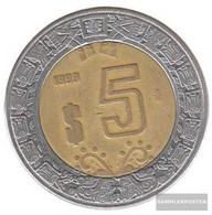 Mexico Km-number. : 605 2006 Extremely Fine Bimetall Extremely Fine 2006 5 Pesos Adler - Mexico