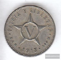 Cuba Km-number. : 11 1961 Extremely Fine Copper-Nickel 1961 5 Centavos Crest - Cuba