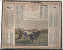 CALENDRIER De 1896 - Format 26 X 21 Cm - Calendars