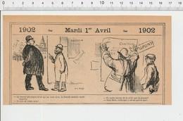 2 Scans Humour Poseur D'affiche électorale Election  PF223A - Old Paper