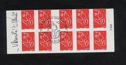 """CARNET DATE 15/11/04 N°3744C1 YVERT  """"MARIANNE DE LAMOUCHE""""  - CACHET 1ER JOUR PARIS DU 8/01/05 - 2 SIGNATURES - Definitives"""