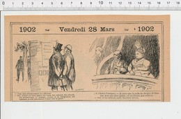 2 Scans Humour Glace De Venise / Opéra Comique évocation Du Théatre De Pézenas  PF223A - Old Paper