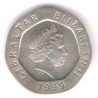 Gibilterra-gibraltar 20 Pence 1999 - Gibilterra