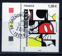 France 2018.Mickey 90 Ans D'enthousiasme.Cachet Rond - France