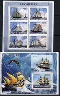 Comores Islands 2008 Sailing Ships & Lighthouses Sheetlet Of 6 & MS, Ref. 148 - Lighthouses