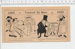 2 Scans Humour Métier Concierge / Tableau Van Dyck Tribunal Juge  PF223A - Old Paper