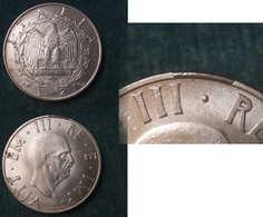 M_p> CURIOSITA' Regno Vitt Eman III° 2 Lire 1940 XVIII Serie Impero - Eccedenza Di Metallo  Sul Bordo - 1861-1946 : Regno