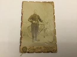 Belle Photo Carte De Visite Chasseur Cycliste Du 18ºBCP Stenay Avant 1914 - Documenten