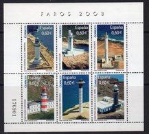 Spain 2008 Lighthouses Sheetlet Of 6, Ref. 151 - Lighthouses