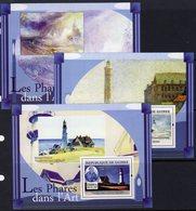 Guinea 2008 Lighthouses In Art Set Of 3 X MS, Ref. 152 - Lighthouses