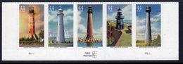 USA 2009 Gulf Lighthouses Strip Of 5, Ref. 153 - Lighthouses