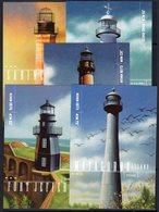 USA 2009 Gulf Lighthouses Set Of 5 Postcards, Ref. 154 - Lighthouses